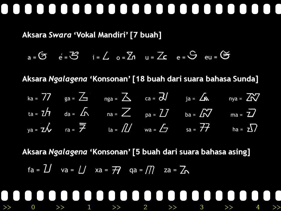 Aksara Swara 'Vokal Mandiri' [7 buah]